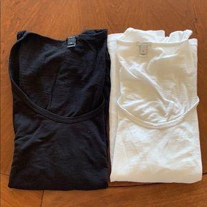 J Crew Staple Tissue Tee Shirt Lot Black White M
